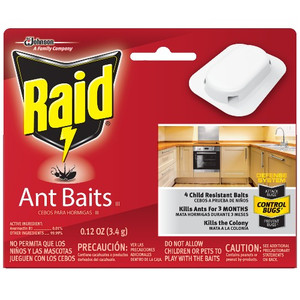 Raid 76746 4 Pack House and Yard Child Resistant Ant Bait Traps