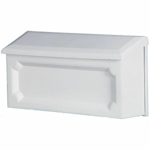 Gibraltar Solar Group WMH00W04 Windsor White Horizontal Wall Mount Mailbox