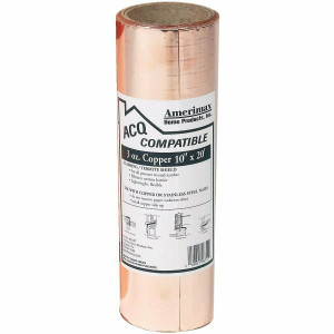 "Amiermax Home Products 85067 Laminated 10"" X 20' Copper Roof Flashing"