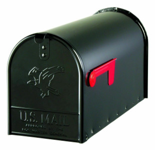 Solar Group E1600B00 Large Heavy Duty Rural Mailbox in Black