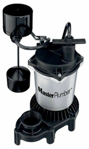 Master Plumber 176952, 1/2 HP, Zinc & Plastic, Sump Pump, With Vertical Switch