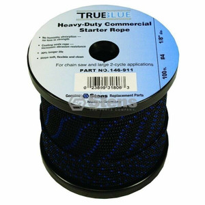 "Stens 146-911 True Blue 100' Starter Rope 1/8"" Diameter / #4 Solid Braid"