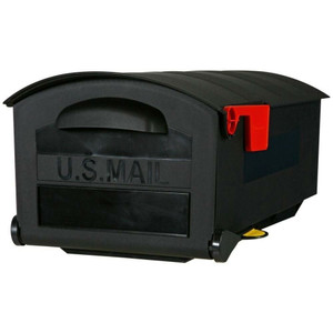 Solar Group GMB515B01 Roughneck Large Black Rural Mailbox