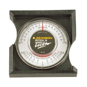 Johnson Level 750 Pitch & Angle Locator in Degrees and Inch Rise per Foot Run