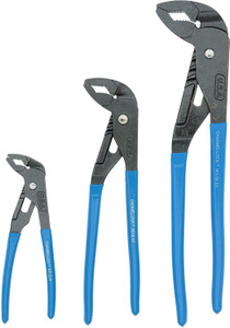 Channellock GLS-3 Griplock Tongue & Groove 3PC Plier Set