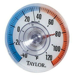 Taylor Suction Cup Window Dial Thermometer 5321