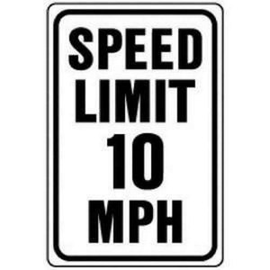 """Hy-Ko Aluminum Heavy Duty Speed Limit 10 Road Safety Sign 12 x 18"""""""