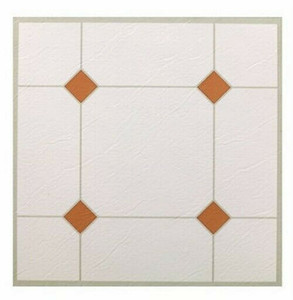 Max KD0307 Taupe & White 30Pc. Peel & Stick Vinyl Tile