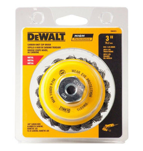 DeWalt DW4915 3 In. Knotted Cup Brush For Angle Grinder