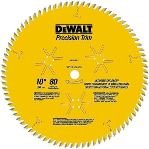 "DeWALT DW3218PT 10"" Precision Trim 80 Tooth Saw Blade"