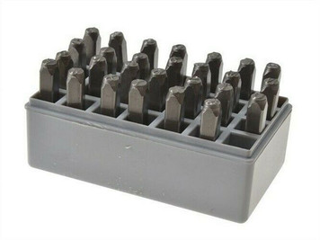 "CH Hanson 20200 Standard 1/8"" Steel Letters Stamp Marking Set Case A thru Z + &"