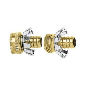 """GreenThumb Brass Hose End Menders w/ Clenchers - 5/8"""" Hose (C58MFGT)"""