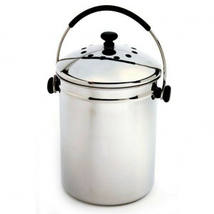Norpro 95 Frip-EZ Stainless Steel Composter Compost Keeper
