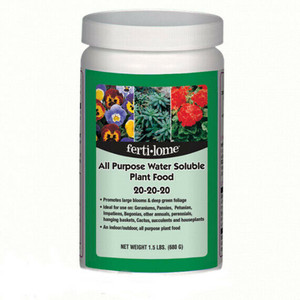 Fertilome 11721 All Purpose 20-20-20 Soluble Plant Food - 1.5 Lb.