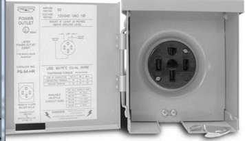Connecticut Electric PS-54-HR 50 Amp 120/240 Volt Exterior RV Power Outlet