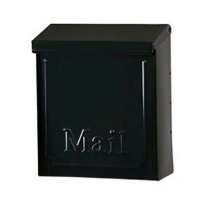 Gibraltar Solar Group  Black Townhouse Wall Mount Locking Mailbox