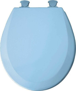 Bemis/Mayfair 41EC034 Blue Round Wood Toilet Seat