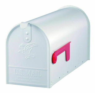 Solar Group E1100W00 White Heavy Duty Rust Resistant Medium Metal Mailbox