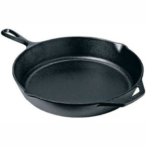 "Lodge Logic L8SK3 10-1/4"" Pre-Seasoned Cast Iron Skillet 2"" Deep"