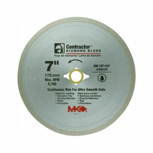 "Contractor 167029 Continuous Rim Circular Saw Blade 7"" Dia. X 0.08"" T"