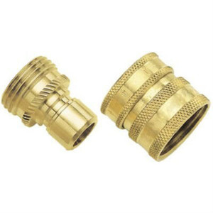 Green Thumb 09QCGT Solid Brass Quick Connect Set w/ Hose & Attachment Connector