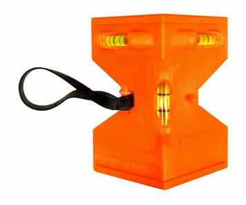 Johnson GloOrange Durable Molded Orange Post Level w/Acrylic Vials