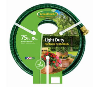 "Green Thumb / Apex 8400-75 Light Duty 5/8"" x 75' Garden Hose w/ EZ Tite Coupling"