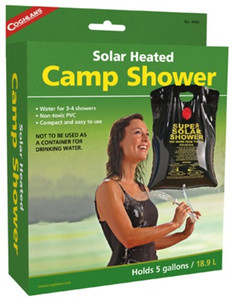 Coghlans 9965Camper's Outdoor Camp Solar Sun Heated 5 Gallon Shower Spray Nozzle