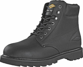 Diamondback 655SS-10.5 Black Leather Size 10.5 Steel Toe Work Boot