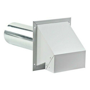 """Lambro 370 4"""" Heavy Duty Painted Galvanized Dryer Vent Hood w Weighted Damper"""