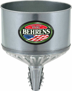 Behrens - Galvanized Steel Lock On Tractor Funnel 8 Quart Capacity