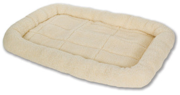 Allied Precision API 152242 Medium Cream Colored Fleece Pet Bed
