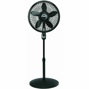 "Lasko 18"" Black Pedestal Oscillating Programmable Remote Control Fan"