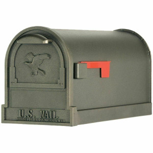 Solar Group Arlington Premium Heavy Gauge Bronze Curbside Mailbox (AR15T000)
