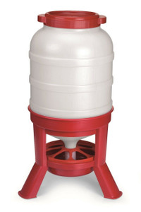 Little Giant DOMEFDR60 Plastic 60 Lb. Capacity Dome Poultry Feeder