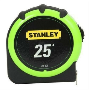 "Stanley 30-305 Hi-Vis Green 25"" Tape Measure High Visibility"