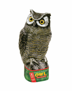 Easy Gardner Realistic Great Horned Owl Decoy Garden Pest Deterrent