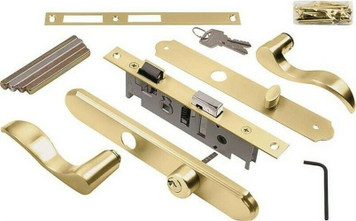 Hampton Wright VMT115PB Brass Serenade Mortise Lever Lockset