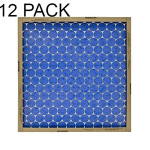 "Protect Plus 14"" x 14"" x 1"" Flat Panel Furnace Filters 12pk (Colors vary)"