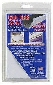 "Gutter Seal GS46 4 Pack, 4"" x 6"", White, Gutter Seal Patches"