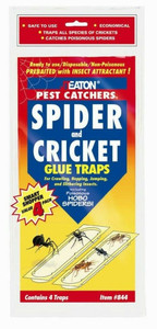 JT Eaton4 Pack Ready to Use Glue Trap Pest Catcher Spider and Insect