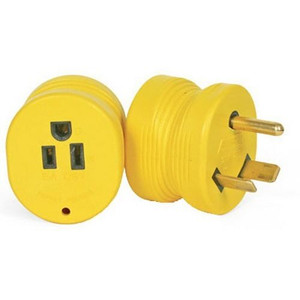 Camco 55233 RV 30 Amp Male to 15 Amp Female Electrical Adapter