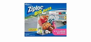 Ziploc 65676 Large Heavy Duty 4 Count Pack Big Bag