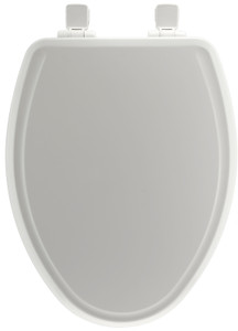 Bemis Mayfair 148E2 000 Elongated White Slow Whisper Close No Slam Toilet Seat