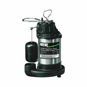 Wayne Water Sys CDU980E 3/4 HP Cast Iron Stainless Steel Submersible Sump Pump