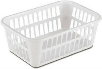 Sterilite 10688048 Lot of 48 Medium White Plastic Storage Baskets