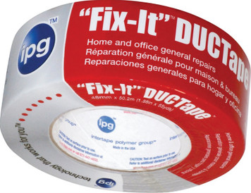 """IPG Fix-It DUCTape, General Maintenance Duct Tape, 1.88"""" x 55 yd, Silver (Single Roll)"""