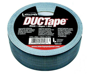 """Intertape 1.88"""" x 60 Yards Cloth Reinforced Duct Tape Roll Black"""