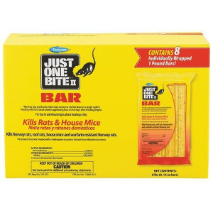 Just One Bite II 8 Pack of 1 Pound Bars Kills Mice and Rats 100504295