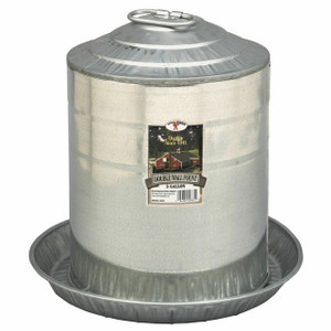 Little Giant 9835 Galvanized 5 Gallon Double Wall Fount